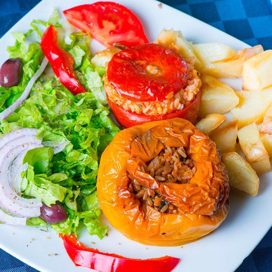 Gemistà Pomodori e Peperoni Ripieni
